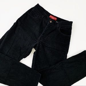 Levi's 550 High Rise Corduroy Relaxed Black Jeans